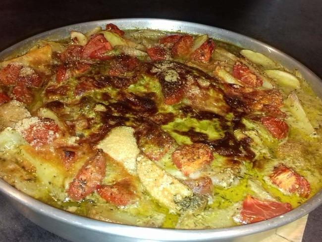 Cuisse de dinde à l'italienne gratinée au parmesan