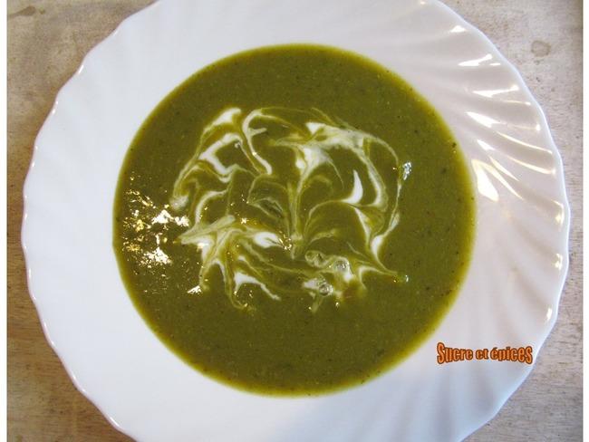 Mouliné de légumes aux petits pois et à l'oseille