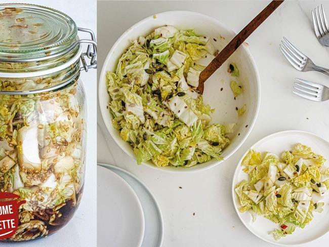 Chou chinois mariné et en salade