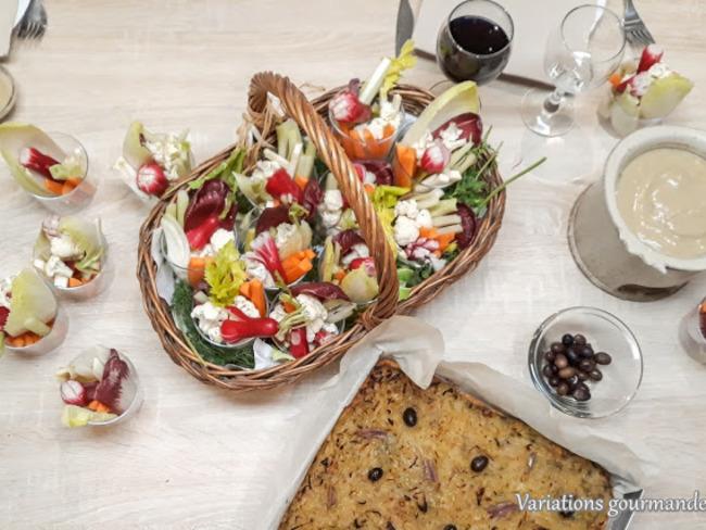 Petits légumes croquants en douceur de bagna cauda