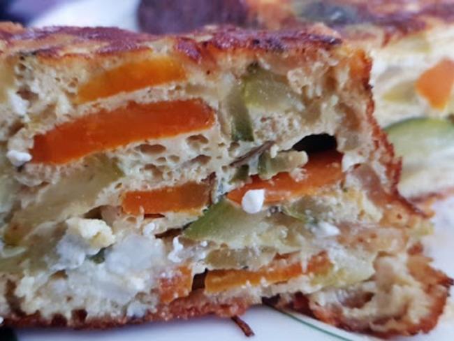 Terrine aux courgettes, carotte et feta