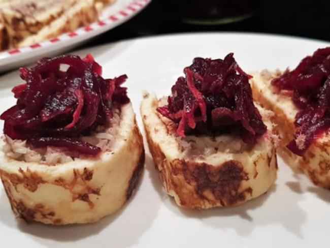 Roulade apéritif aux sardines pimentées