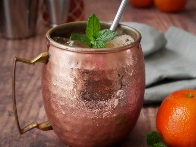 Cocktail de noël rhum clémentine