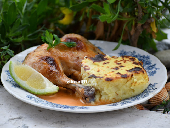Cuisses de poulet rôties en cocotte basse température