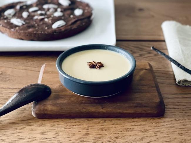 Crème anglaise au lait végétal