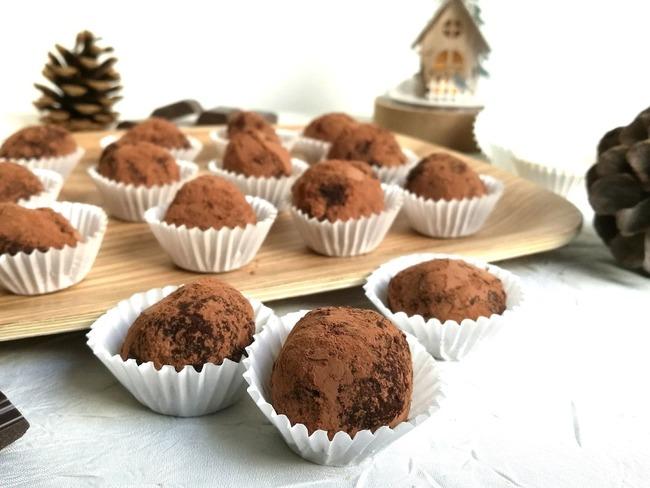 Truffes au chocolat et crème de marrons