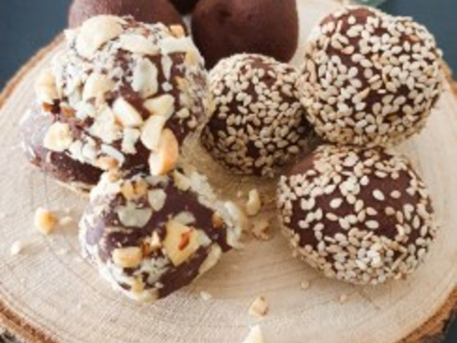 Truffes chocolat noisette