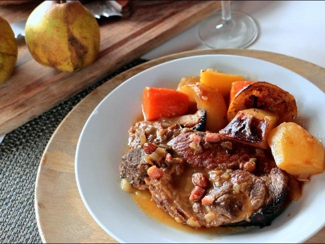 Porc rôti à la poire