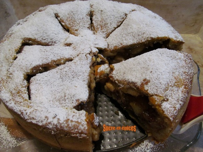Tourte aux pommes façon strudel à la pâte brisée sucrée