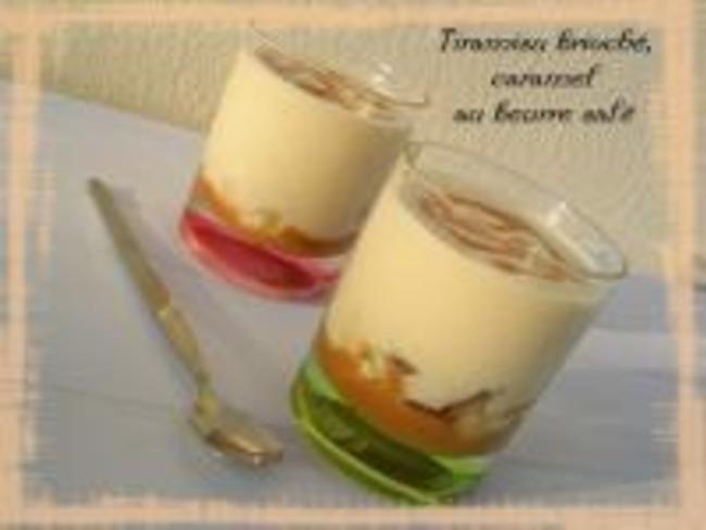 Tiramisu brioché, caramel au beurre salé