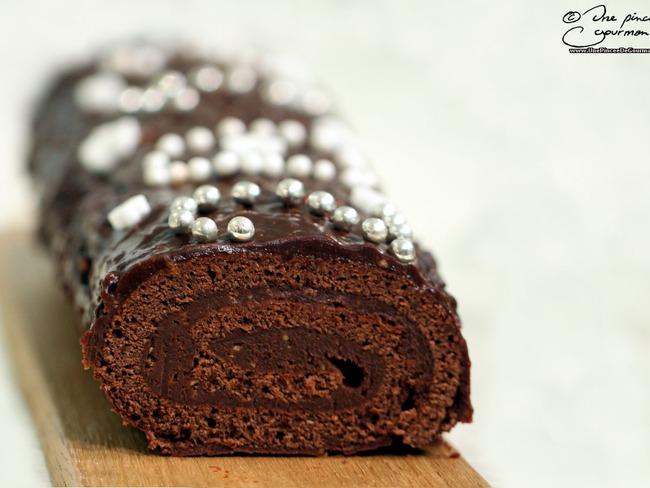 Bûche chocolat-praliné