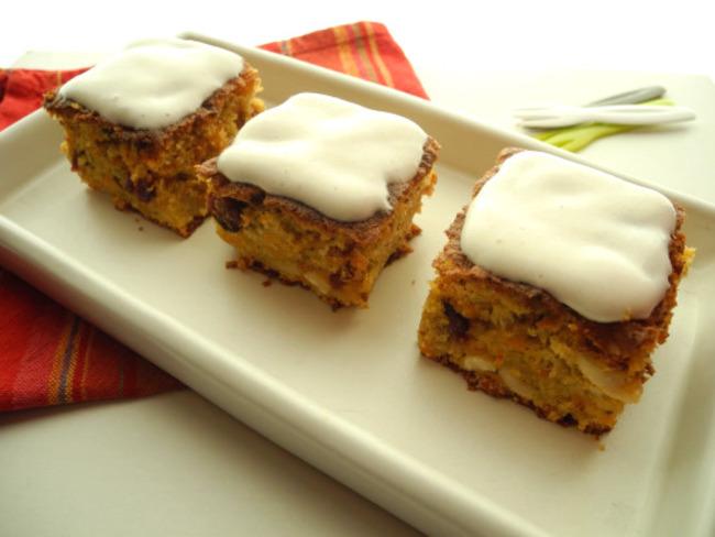 Carrot cake - Glaçage à l'amande
