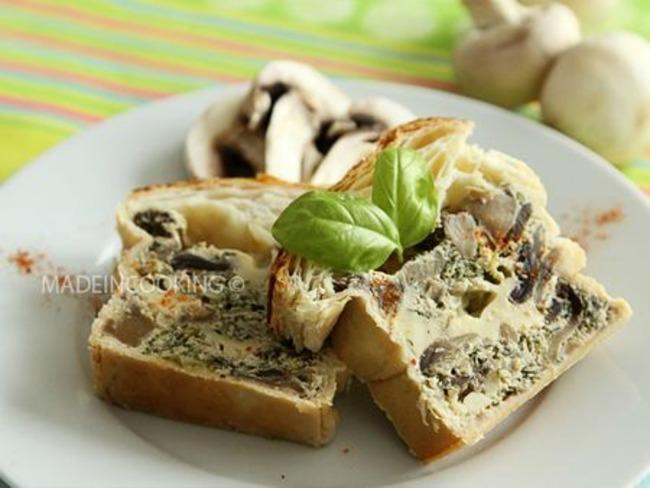 Pâté en croûte de champignons