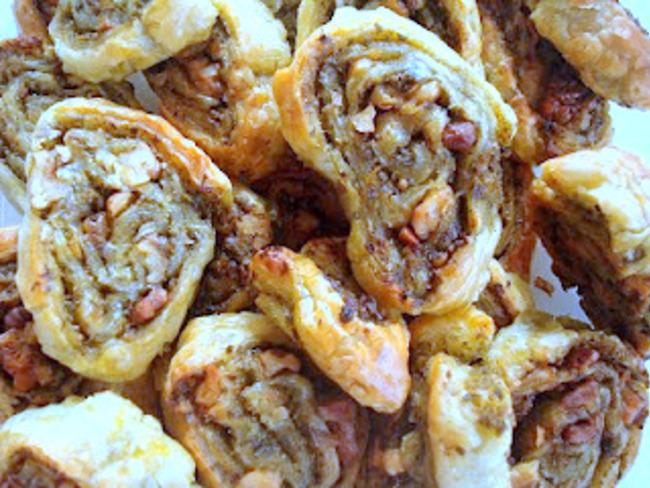 feuilleté pesto et noix