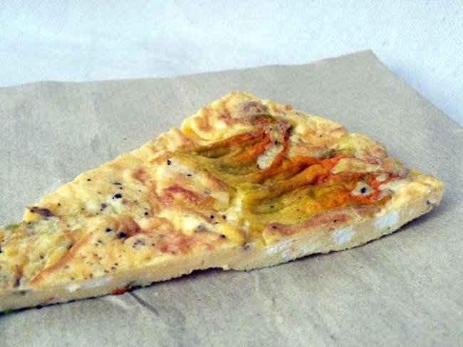 Omelette aux fleurs de courgette et ricotta mustia