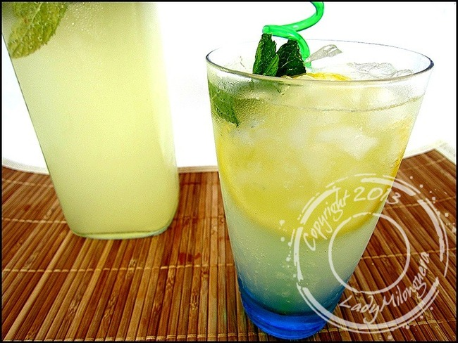 Limonade menthe et gingembre