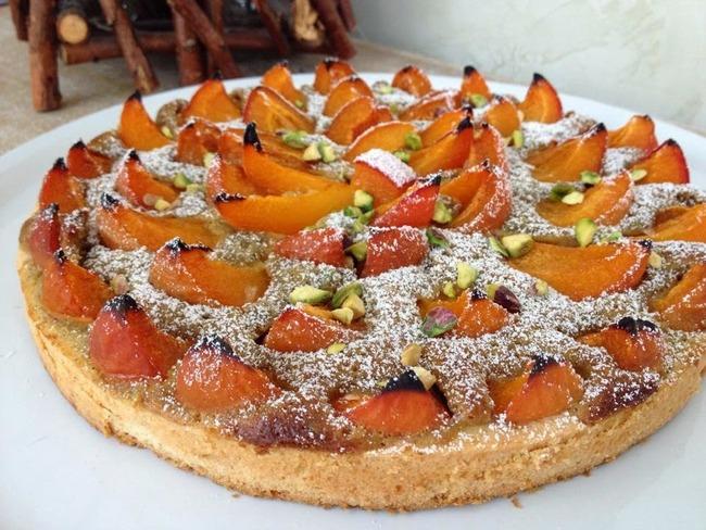 Tarte aux abricots et pistaches de Christophe Felder