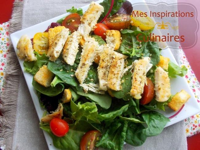 Salade au poulet grillé