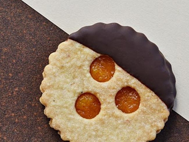 Biscuits au confit d'agrumes chocolat