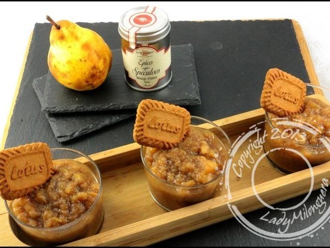 Compote de pomme et poire aux épices à spéculoos
