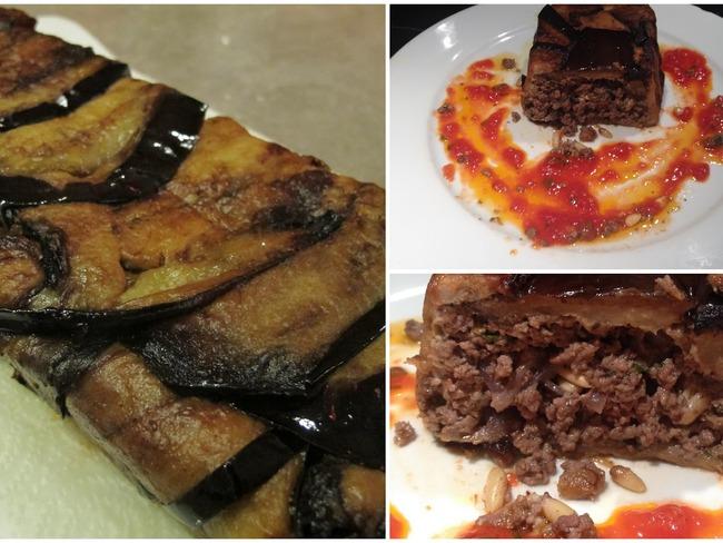 Gâteau d'aubergines à la viande