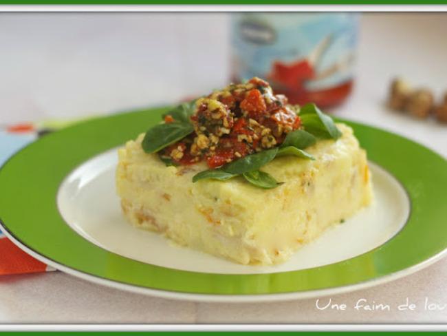 Filet de haddock en brandade avec sa salade