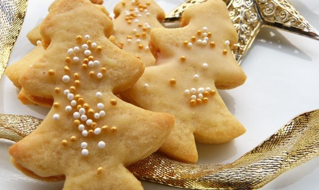 Biscuit de noël en forme de sapin