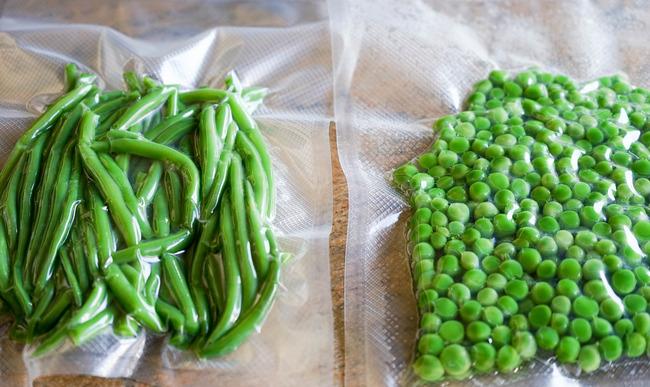 Légumes sous-vide