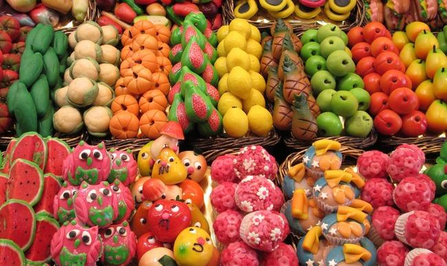 Fruits et légumes en massepain