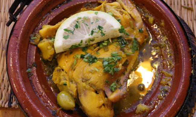 Tajine de poulet au citron
