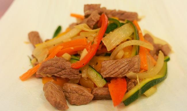 Sauté de boeuf aux légumes