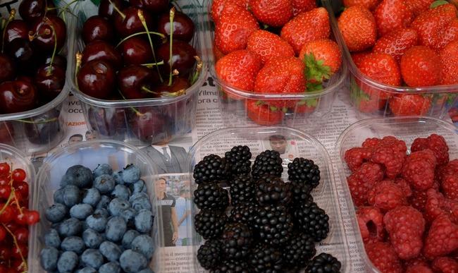 Assortiment de fruits rouges