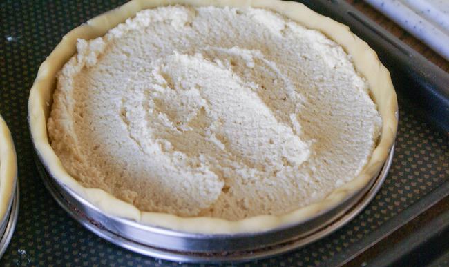 Fond de tarte et crème d'amande