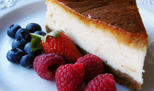 Cheesecake et fruits rouges
