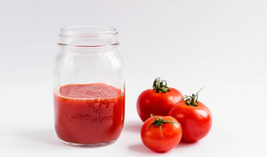 Coulis de tomates en bocal