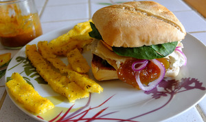 Burger de patates douces et tofu