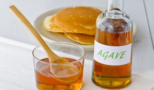 Sirop d'agave et pancakes