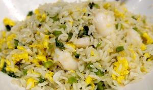 Assiette de salade de riz