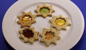 Assiette de biscuits vitraux