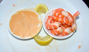 Cocktail sauce et crevettes
