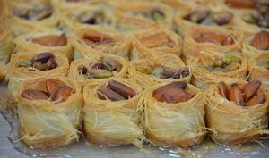 Dessert nid d'oiseaux, pâte filo