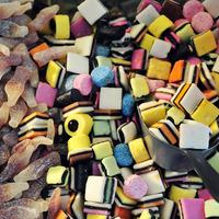 Bonbons sur une étale.