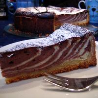 Une part de zebra cake.